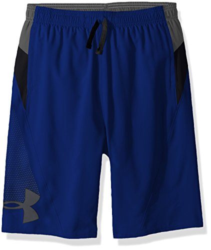 Under Armour Boys' Evolve Woven Short, Royal (400)/Black, Youth Large
