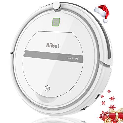 Aiibot Robot Aspirador,Succión Fuerte Aspirador Robot,Diseño Ultrafino,Anti-caída,HEPA,Pelos Animales...