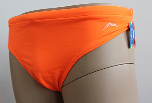 Blue Wave Maillot Slip Homme Orange fluo Arancione