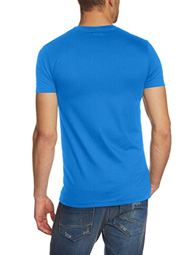 Trigema Herren T-Shirt Slim Fit, Einfarbig Blau (Electric-Blue 048)