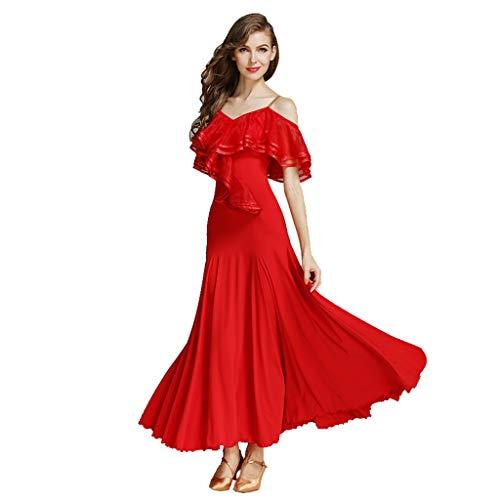 DRESSS Modern Dance Rock Kleid, Adult Lady Luxury Large Lotus Leaf Kostüm (Farbe : Rot, größe : XL) (Theme Kostüme Adult)