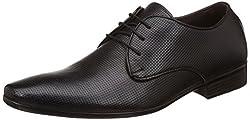 egoss Mens Black Leather Formal Shoes - 7 UK/India (41 EU)