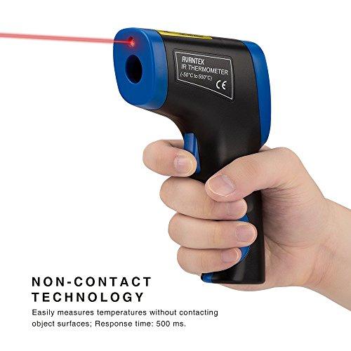 AVANTEK Termómetro Infrarrojo Digital Pistola de Temperatura  50 °C a 550 °C Sin Contacto para Uso Doméstico o Industrial de Medición
