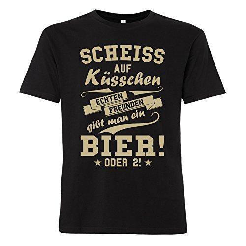 ShirtWorld - Echten Freunden gibt man ein Bier - T-Shirt XL (T-shirt Bier Herren)