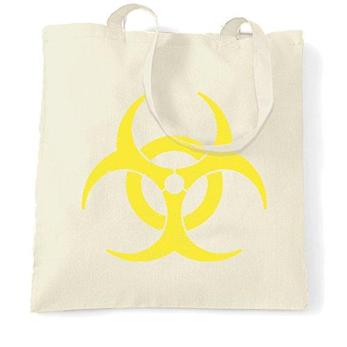 Biohazard Distressed Logo Warnung Gefahr Gefährliche Zeichen kühles Geschenk Tragetasche (Designs Gefährlich T-shirts)