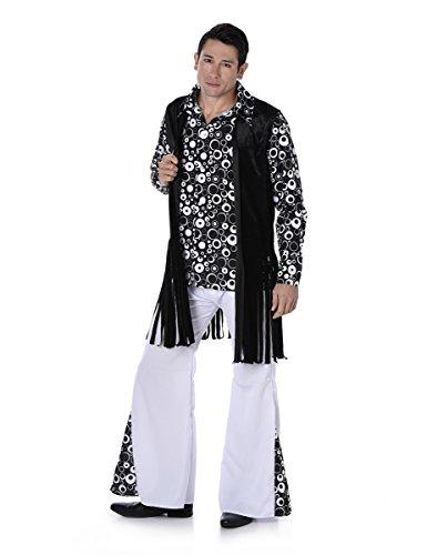 Disfraz Hippie retro blanco y negro hombre