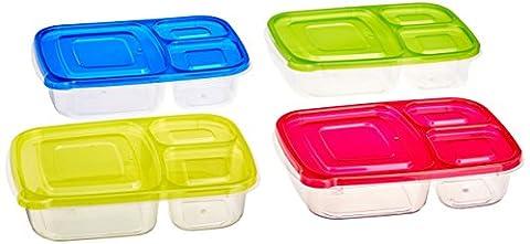 Vert Direct Lunch Box des Ensembles/Grande boîte alimentaire avec couvercle/boîte à Bento, passe au micro-ondes, au congélateur et au lave-vaisselle, étanche, Taille M claire