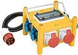 Brennenstuhl Kompakter Stromverteiler BSV 3 - FI/16 IP44 Baustelleneinsatz und Outdoor, 1153660301