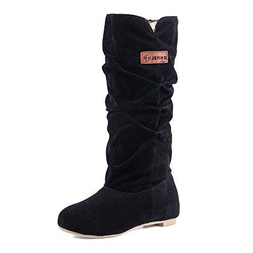 Frühling Schuhe Stiefel (JOYORUN Damen Frühling Herbst Stiefel Outdoor schuhe ,38 EU,Schwarz)