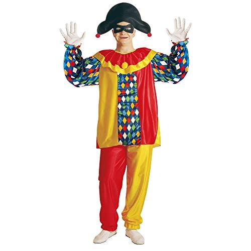 Widmann 39712 - Harlekin-Kostüm für Herren, Größe M