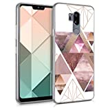 kwmobile LG G7 ThinQ/Fit/One Hülle - Handyhülle für LG G7 ThinQ/Fit/One - Handy Case in Rosa Rosegold Weiß