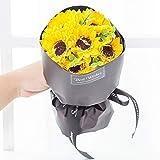 SED Künstliche Blume - Simulations-Sonnenblume Sun-Blumen-Blumenstrauß-Handgemachte Soap-Blumenstrauß-Geburtstags-Geschenk Kreatives Lehrer-Tagesgeschenk, Gelb,Ein Bündel