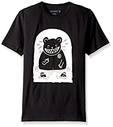 French Connection Mens Bear in Water Graphic T-Shirt, Black, L