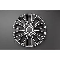 Autostyle PP 5215 Voltec Pro Set de tapacubos, 15 pulgadas, color negro y blanco