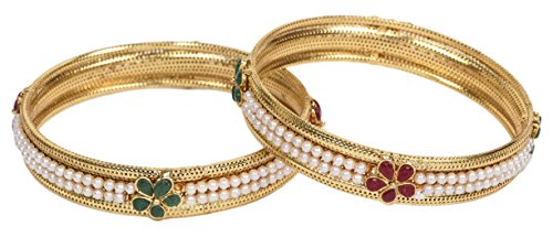 Daily Waer Light Weight Festive Special Set of Two Bangles For Women by Shining Diva