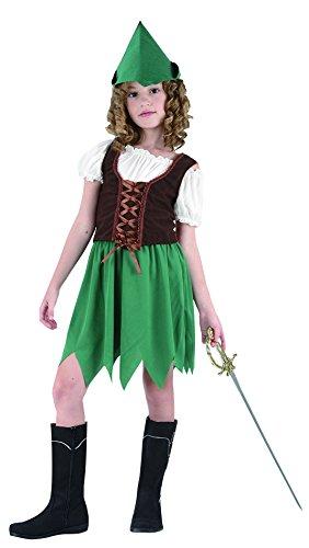 (FIORI PAOLO Blumen Paolo–Robin Girl Kostüm Mädchen L (7-9 anni) grün)