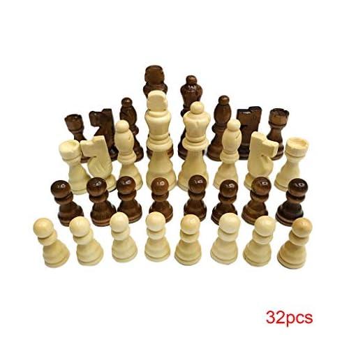 Holz-Schach-Set-77cm-Knig-32-Schachfiguren-Figuren-Pawns-Erwachsene-Kinder-Turnier-Spiel-Spielzeug Holz-Schach-Set 7.7cm König 32 Schachfiguren Figuren Pawns Erwachsene Kinder Turnier-Spiel-Spielzeug -
