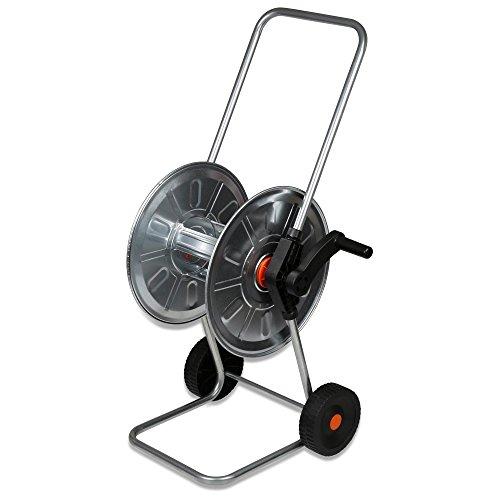 'Chariot dévidoir métal galvanisé pour tuyau 50 m – 1/2