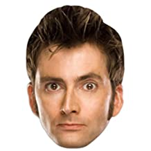 Star Cutouts bedrukt gezichtsmasker van Tenth Doctor