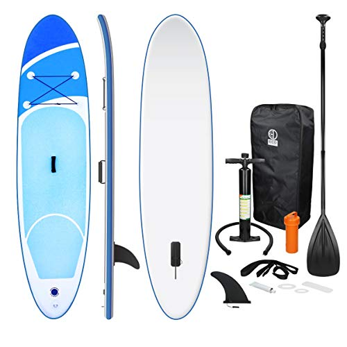 ECD Germany Tabla Hinchable Paddle Surf/SUP - Stand up paddle board - 308 x 76 x 10 cm - azul...