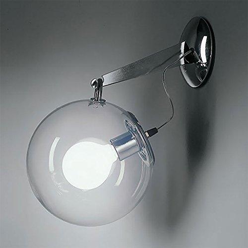 Applique da parete per la casa, lampada da parete moderna europea semplice led vetro trasparente camera da letto studio creativo soggiorno bolle di sapone decorazione luce di notte - hmlife