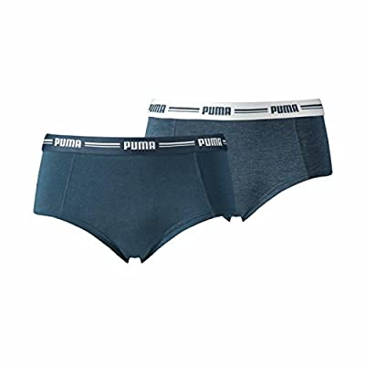 Puma Damen Iconic Mini Short Hang 2er Pack, Größe:XL;Farbe:Dark Denim (945) from Puma Puma Schuhfabrik AG