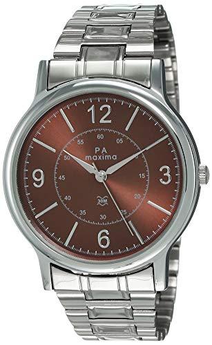 Maxima Analog Brown Dial Men's Watch - 48273CMGI