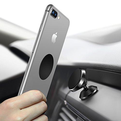 Handy Halterung Auto Magnet, Humixx 360° Einstellbare Smartphone Universal HalterungAuto für iPhone 6 6s 7 7Plus, Samsung Galaxy S7 S8, HTC (Schwarz Leder)