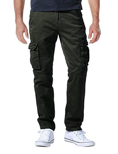 Match Herren Cargo hose#3357(6057 Dunkel armee gree,34W x Regular (DE 44)) (Camo Jeans Cargo)