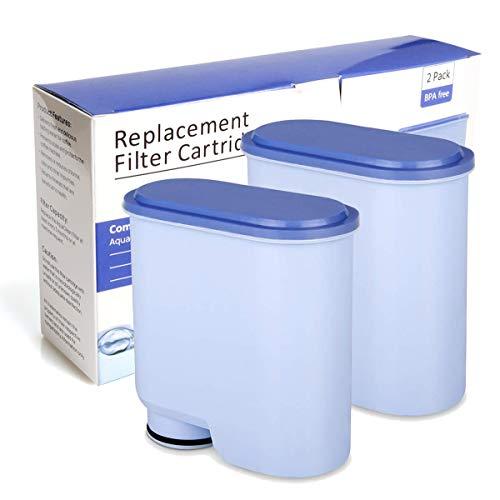 Filtre à eau pour machines à café Saeco et Philips,Philips Filtre à Eau et à calcaire CA6903 compatible avec les cafetières automatiques AquaClean de Philips et Saeco (2 pièces) (2 pièces)