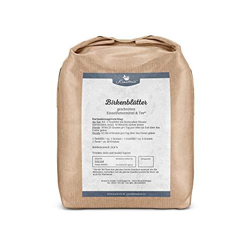 Krauterie Birken-Blätter in hochwertiger Qualität, frei von jeglichen Zusätzen, als Tee oder für Pferde und Hunde (Betula pendula) - 1000 g