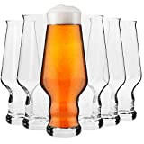 Krosno Verres à Bière IPA Artisanale | Lot de 6 | 400 ML | Collection Splendour | Parfait la Maison, Les Restaurants Les fêtes | Va au Lave-Vaisselle au Micro-Ondes