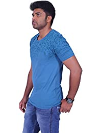 Tempt Men'sPremium Cotton Round Neck Half Sleeve Solid T-Shirt With Side Rib( Color:White, Sizes:S,M,L,XL)
