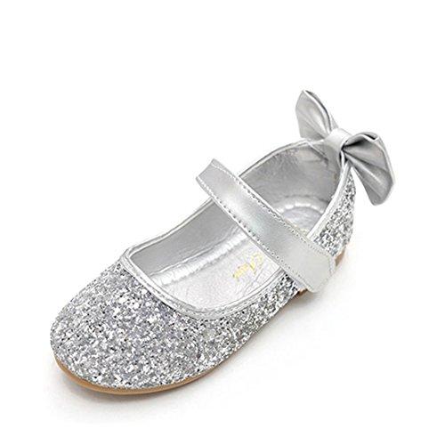 O&N Prinzessin Gelee Partei Sandalette Stöckelschuhe Kunstlederschuhe mit Schmetterling für Kinder