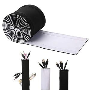 cables: Cables organizador, ENVEL DIY Funda Organizadores de Cable [ con Velcro ] Cubier...