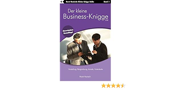 Der Kleine Business Knigge 2100 Vorstellung Rangordnung