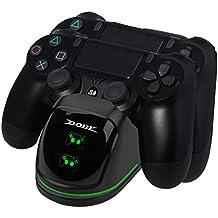 EXTSUD PS4 Controller Ladestation, Dual Dualshock 4 Ladegerät Charger mit LED Anzeige und USB Kabel Ladegerät für Sony Playstation 4 / PS4 Slim/PS 4 Pro Wireless Game Controller Gamepad