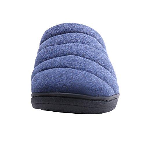 Hombres-Zapatillas-de-Casa-Antideslizante-de-los-Deslizadores-Cmodos-WILLIAMKATE-40-41-Azul-Marino