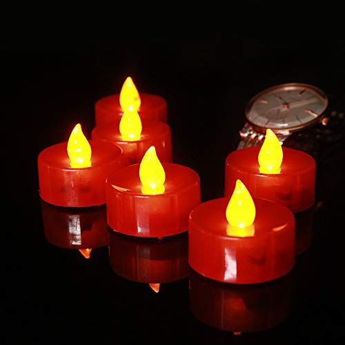 - Laterne Halloween Weihnachten Hochzeiten Feste Party Eingerichteten Elektronischen Kerzenlicht 18. Rot - Gelbe Lampe Shell ()
