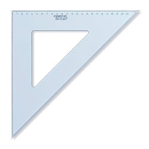 Staedtler 567 36-45 - Escuadra (36 cm, 45/45 grados), color azul translúcido