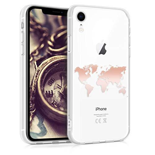 kwmobile Apple iPhone XR Hülle - Handyhülle für Apple iPhone XR - Handy Case in Rosegold Transparent -