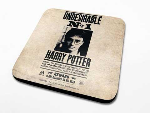 Harry Potter - indesiderabile - sottobicchiere - dimensioni 10 x 10 cm