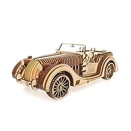 Ugears 70052 VM-01 Roadster Auto 3D Legno Arte DYI – Modellino di progetti per Adulti e Bambini 3D Modello Tecnico in Legno