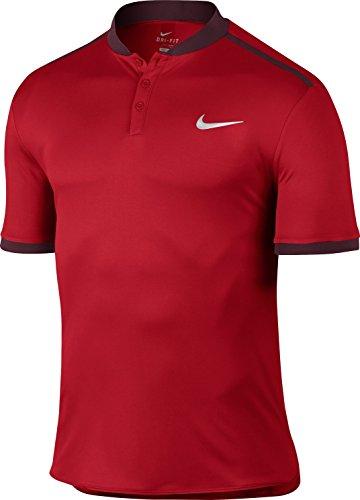Nike Herren Grigor Dimitrov Advantage Henley Polo Oberbekleidung, Rot, XXL