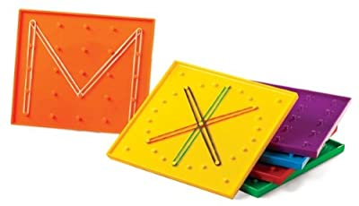 EDX 53867 Geoboard, Mixed Colour, 15 Size, 6 Pieces from Commotion Ltd