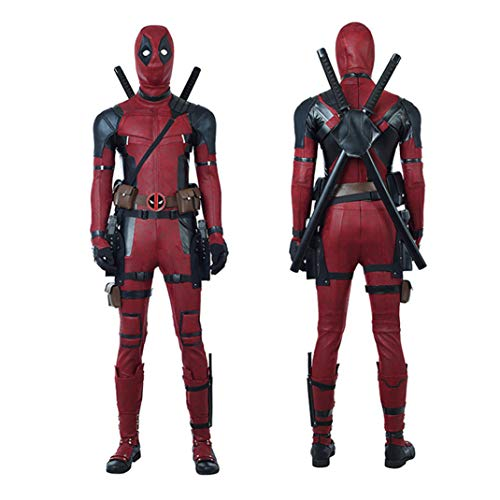 �hnenshow Rollenspiel Kostüm, Ten in One Deadpool 2 Wade · Wilson Cosplay Lederoverall Women-XXL ()