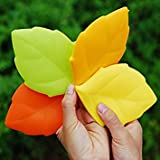 Green : 2Pcs Portable Travel Silicone Drinking Cup Personty Maple Leaf Shape Wash Cup Toothbrush Holder Cover Gargle Cup Reusable