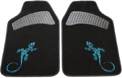 Unitec 74897 et di 2 tappetini per auto reptilia, colore blu
