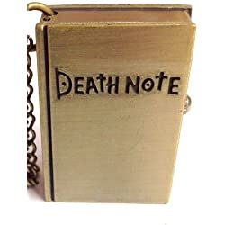 Bronze Deathnote Book - Pocket Watch Necklace - Pierced and Modified