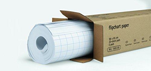 Legamaster Papier Flipchartblock, 1 Block á 20 Blatt, kariert, weiß